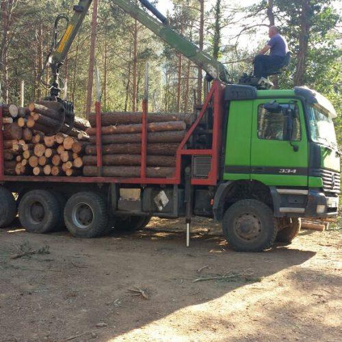 Camió forestal Mercedes Benz 6718 BHZ amb pluma forestal
